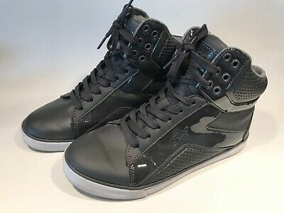 Womens Love Pastry High Top Shoes Dark Gray - Size 8 - Hip Hop Dance Sneakers
