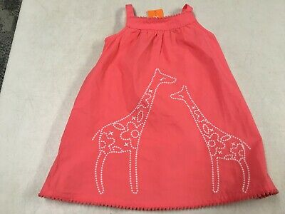 Nwt Gymboree Sunny Safari Orange Giraffe Dress W Diaper Cover  18  24  Ms