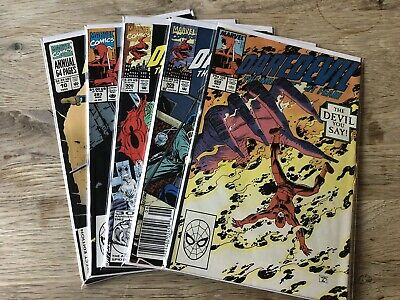 Marvel Comics Daredevil The Man Without Fear Lot Of 5 Comics Good Condition