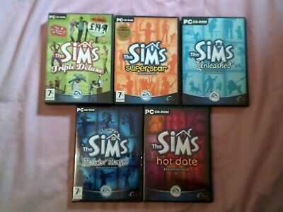 THE SIMS 1 - BASE GAME & ALL 7 EXPANSIONS - COMPLETE COLLECTION PC GAME BUNDLE t