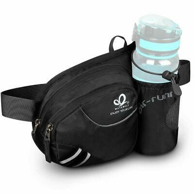 Waterfly Hiking Waist Bag Fanny Pack with Water Bottle Holder for Men  Running