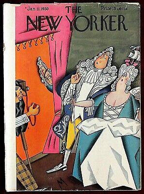The New Yorker Magazine ~ January 11, 1930 ~ De Miskey Couple Posing for Picture