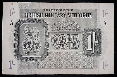 British Military 1shilling banknote, 1943year, (normal condition)