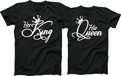 Her King and His Queen LOVE, Couples, Tees, Love Matching Shirts