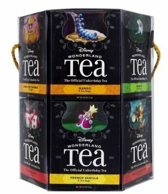 Disney Parks Alice in Wonderland 12 Flavor 96 Tea Bag Gift Box Set - NEW