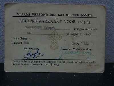 Scouts scout scoutisme Scouting Leidersjaarkaart