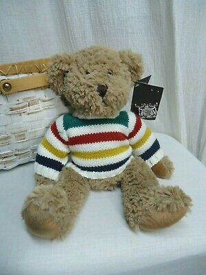 HBC Hudsons Bay Heritage Charity Bear 2011 Henry Kelsey w Sweater n Tag