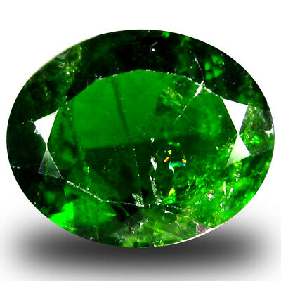 3.21 ct  Spectacular Oval Shape (11 x 9 mm) Green Chrome Diopside Gemstone