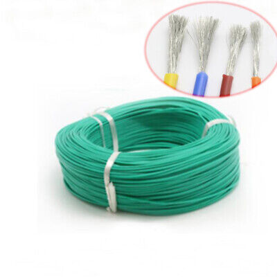 8 - 22/24/26/28/30AWG Silicone Cable Flexible Wire UL Stand 0.08mm Series Green