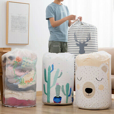 Foldable Storage Bag Clothes Blanket Quilt Closet Sweater Organizer Box Pouches.