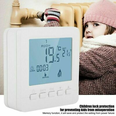 WiFi LCD Wireless Smart Programmable Thermostat Electric Heating App Control New