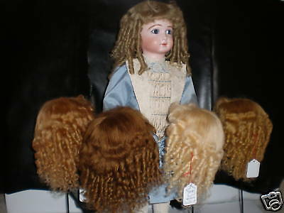 Wig Mohair for Antique Doll -doll Wig -t9 (32cm) Made in France