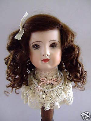 Wig Mohair for Antique Doll -t6 (27.5cm) Made in France