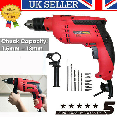 Corded Electric Hammer Impact Drill 650W Variable Speed Reverse Control UK Stock