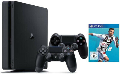 SONY PlayStation 4 PS4  1 TB Konsole + 2 Wireless Controller + FIFA19 B-WARE