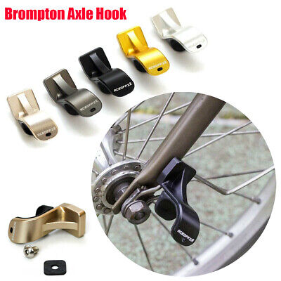 Alloy Front Wheel Hook L R Type Axle Hook for Brompton Folding Bike Extralight