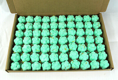 Bath Bombs Citrus Twist scented 70 x 10g Flowers less mess reduced plastic