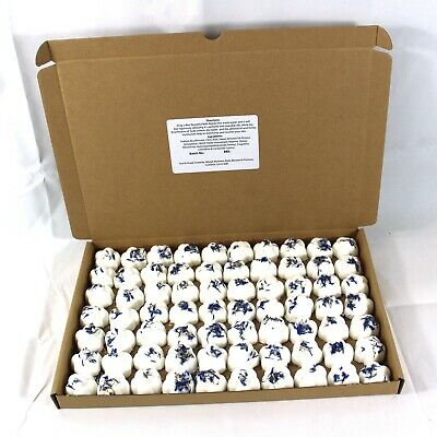 Bath Bombs Eucalyptus scented 70 x 10g Flowers less mess reduced plastic