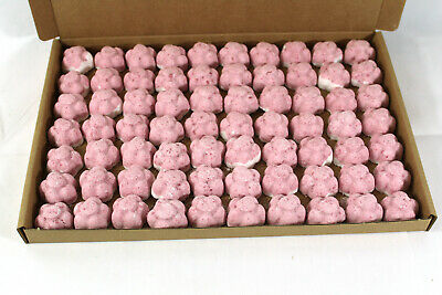 Bath Bombs Strawberry & cream scented 70 x 10g Flowers less mess reduced plastic