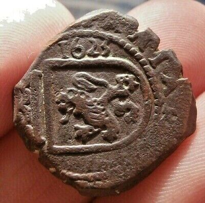 1623 Pirate Cob Coin Old 8 Maravedis Felipe / Philip Iv Colonial Treasure Times