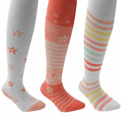 Miss Fiori 3 Pack Floral Infants Girls Tights Underclothes Stretch Summer