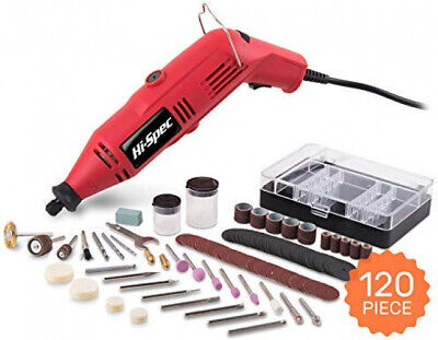 Multi Tool And 120 Accessory Set Dremmel Grinding Cutting Polishing Hobby Kit