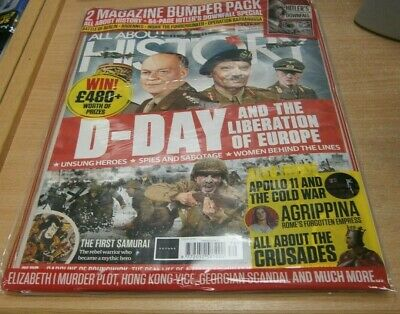 All About History magazine '79 2019 D-Day, First Samurai, Apollo 11 & Cold War
