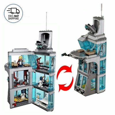 NEW LXGO Marvel Super Heroes Attack on Avengers Tower 76038 511pcs Free Shipping