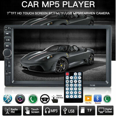 """7"""" Car Bluetooth Stereo Radio MP5 MP3 Player 2 Double DIN Touch Screen 7010B New"""