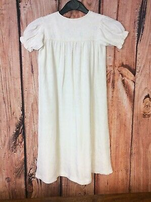 "Vintage C 24"" Hand Made Baby Baptism/Christening Gown/Dress Beautiful Fabric"