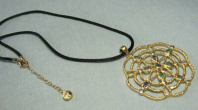 Gold Over Sterling Silver Pendant w Semi Precious Sets  mark: 925 China