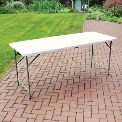 1.8m (6ft) Heavy Duty Folding Camping / Event Table with Carry Handle