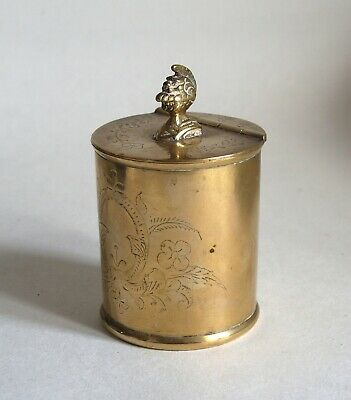 Good antique brass tea caddy