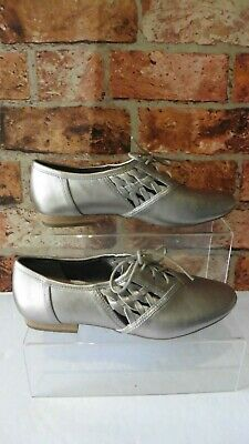 Clarks Active Air Metallic Leather Lace Up Shoes Uk 4 / 37 Worn Once B14