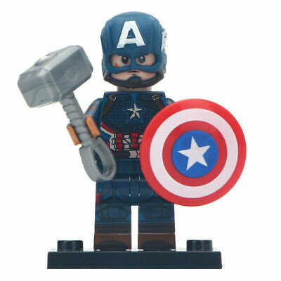 Lego Minifigure Hero CAPTAIN AMERICA WITH MJOLNIR Marvel Avengers 4: Endgame