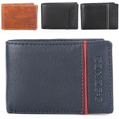 Mens Small Wallet Genuine Leather With Coin Pocket RFID BLOCKING Slim Bifold New