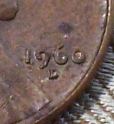 "1960-D Error Coin - Filled ""6"" Lincoln Memorial Cent's ( 1 Coin ) ( Itm#8843 )"