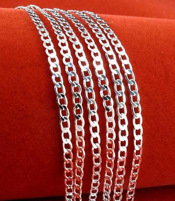 Rolo Chain 925 Silver 2mm Curb Necklaces Chain Women Men Jewelry Wholesale