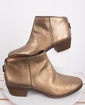 d77a9f1f57a SZ 10 EU 40 Lucky Brand Yinan Black Pull On Leather Booties Stacked ...