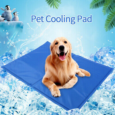Pet Cooling Mat Pad Gel Cooler For Dog Crate Bed Comfort Chilly Beds NEW