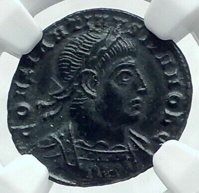 CONSTANTINE II Jr. 330AD Authentic Ancient Roman Coin w SOLDIERS NGC i78633