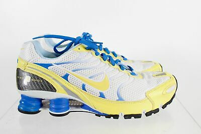 premium selection 5651f b76c5 Nike iD Shox White Yellow Lace Up Men s Running Shoes Size 9