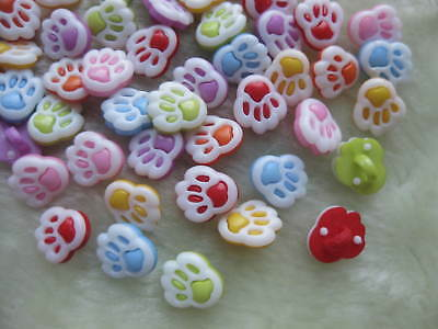 100x  Mix color foot plastic buttons backhole sewing crafts notions F067