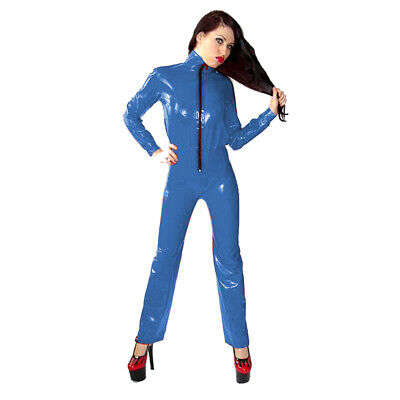 Latex Catsuit Rubber Racing uniform Tops and trousers Gummi Anzug Party Kostüm