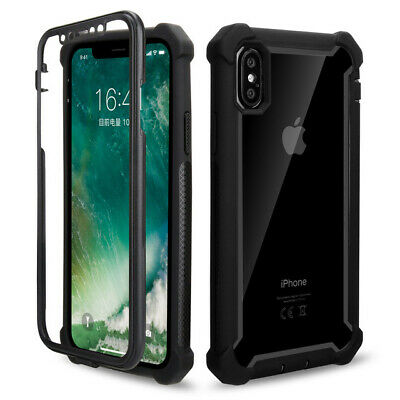360° Full Clear Case Cover Shockproof Heavy Duty Hybrid For iPhone 6 6S 7 8 X XR