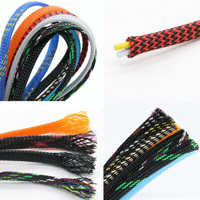 Ø20~100mm Braided Cable Sleeve Harness Sheathing PET Expandable Sleeving Tube
