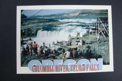 492) Columbia River Oregon ~ The Celilo Falls ~ Ancient Indian Fishing Grounds