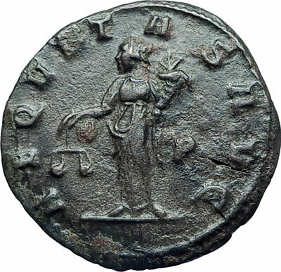 TACITUS Authentic Ancient 275AD Siscia Genuine Roman Coin AEQUITAS SCALES i78126