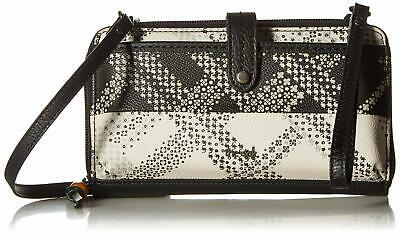 The Sak Black Silver Iris Large Smartphone Crossbody Handbag Purse $59 #041