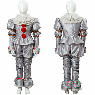 Kid's It Chapter Two 2 Pennywise Clown Cosplay Costume Suit Outfit Set Halloween